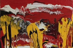 Andesfjellene Emaljeolje (90x100 cm) kr 27000 ur