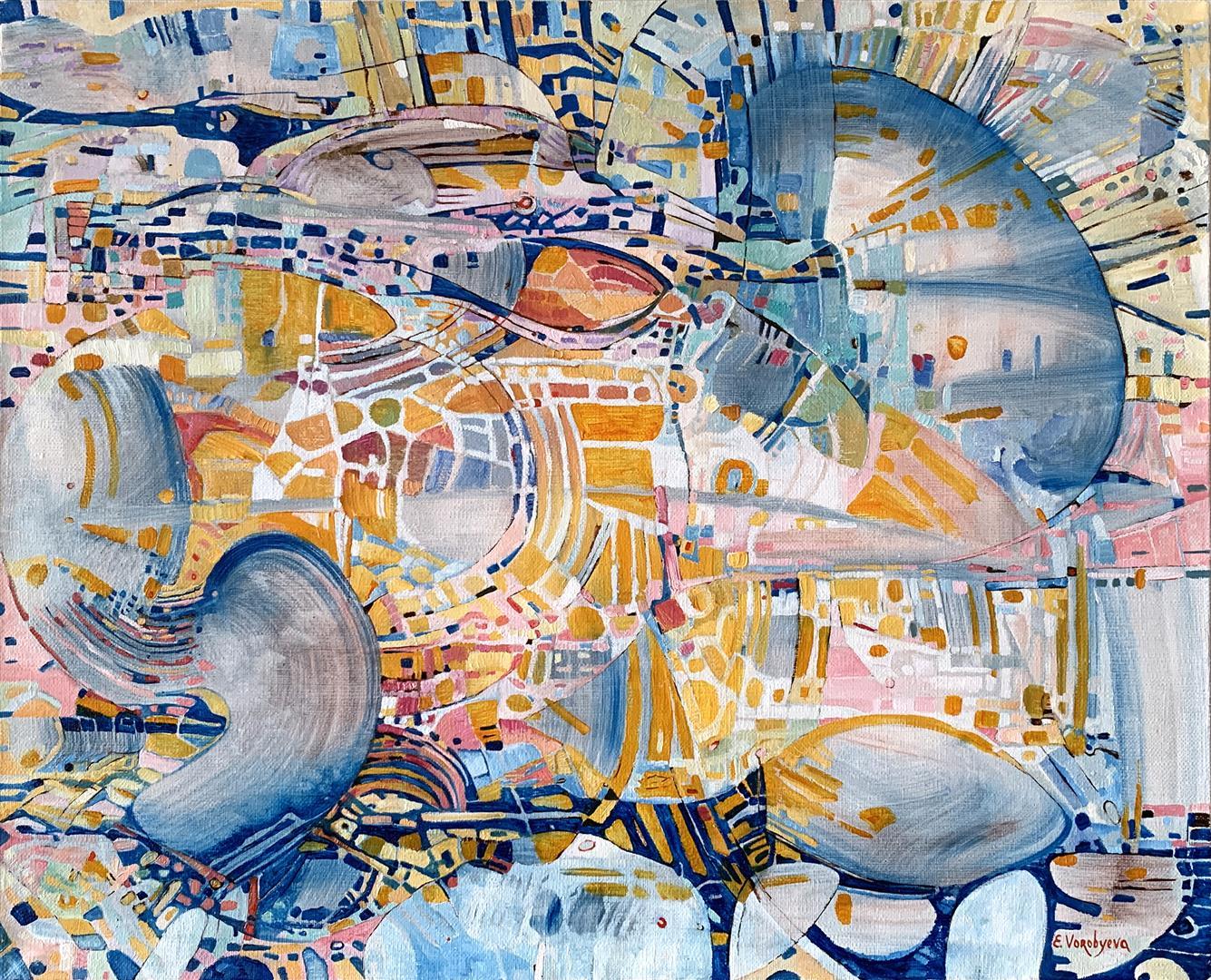 Stille morgen Oljemaleri (40x50 cm) kr 8000 ur