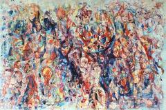 Kjærlighetsformel IX Oljemaleri (100x150 cm)