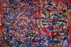 Kjaerlighetsformel VII Oljemaleri (100x150 cm)