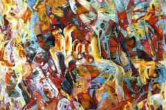 Kjærlighetsformel I Oljemaleri (140x70 cm)