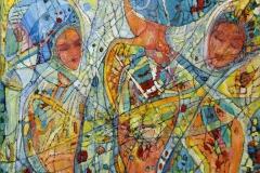 Tre gratier Oljemaleri (25x25 cm)