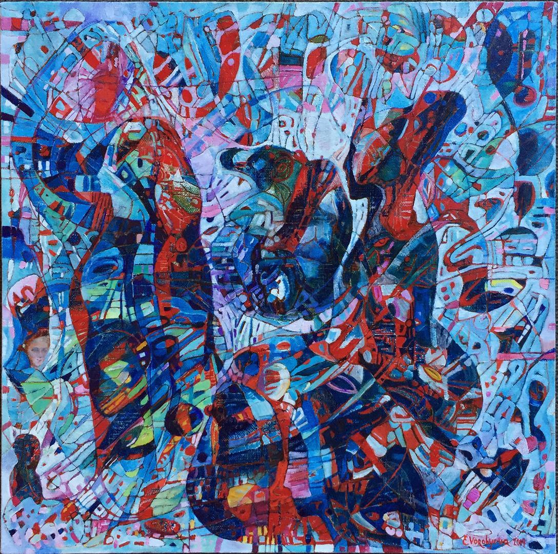 Vinter Oljemaleeri (40x40 cm)