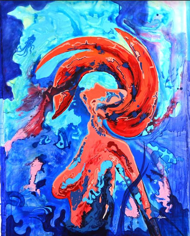 The world above Akrylmaleri (120x90 cm) kr 10000 ur