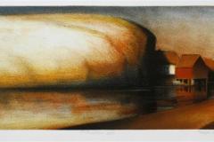 Stillhetens speil Litografi 18x47,5 cm 1700 ur