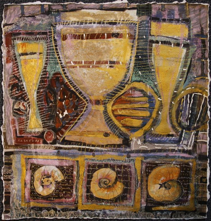 Breakfast with the pharaon 5 Blanding teknikk 37x36 cm 4000 mr
