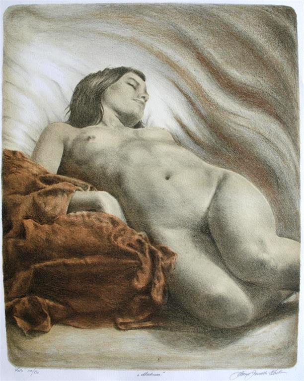 Madonna Litografi (53x43 cm) kr 2500 ur