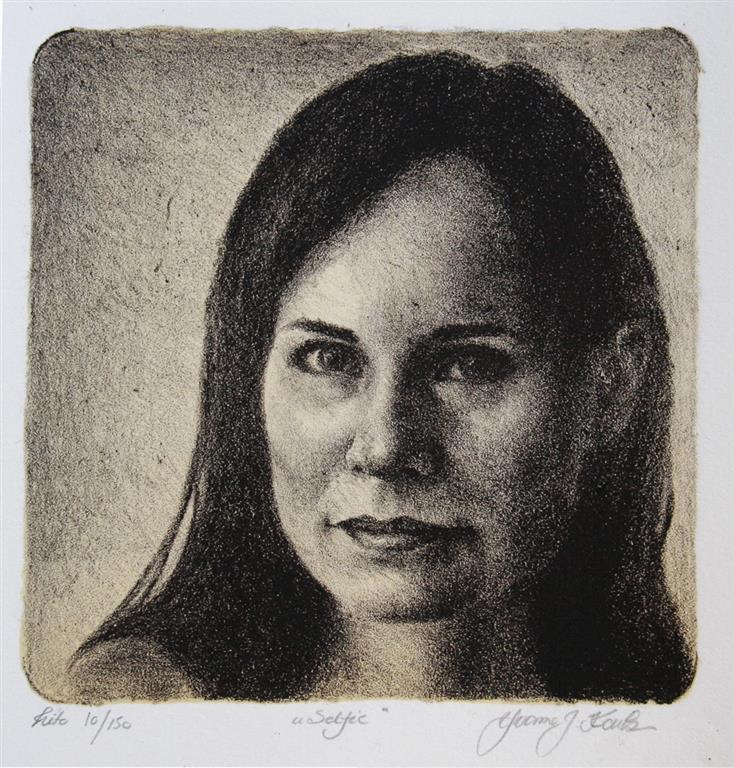 Selfie Litografi 18x18 cm 900 ur