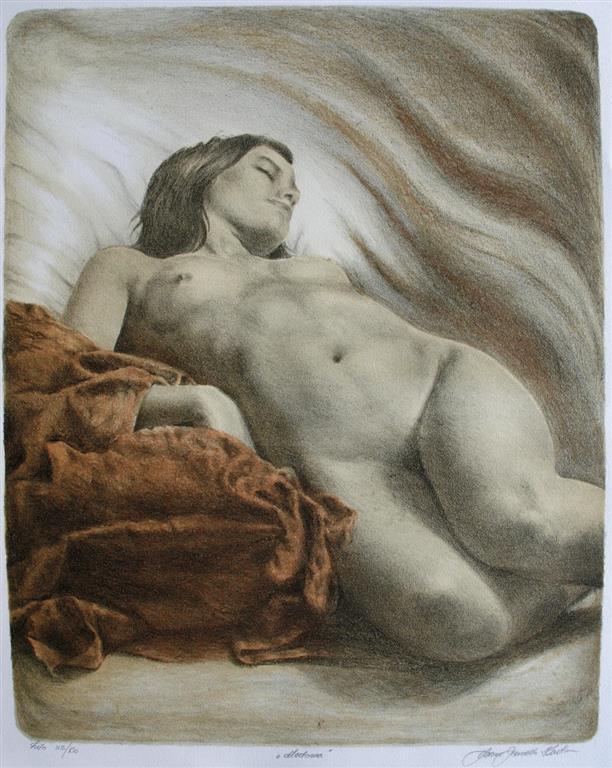 Madonna Litografi 53x43 cm 2500 ur