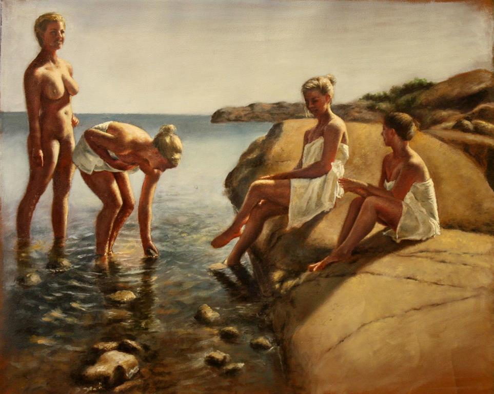 Nymphs Maleri 50x60 cm 17000 mr